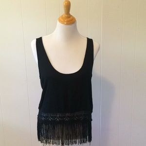 Fringe Ali&Kris long crop top